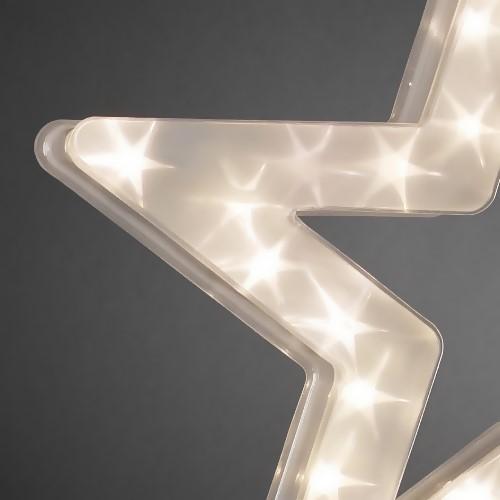 konstsmide led hologramm stern sterneffekt 30 led warmwei. Black Bedroom Furniture Sets. Home Design Ideas