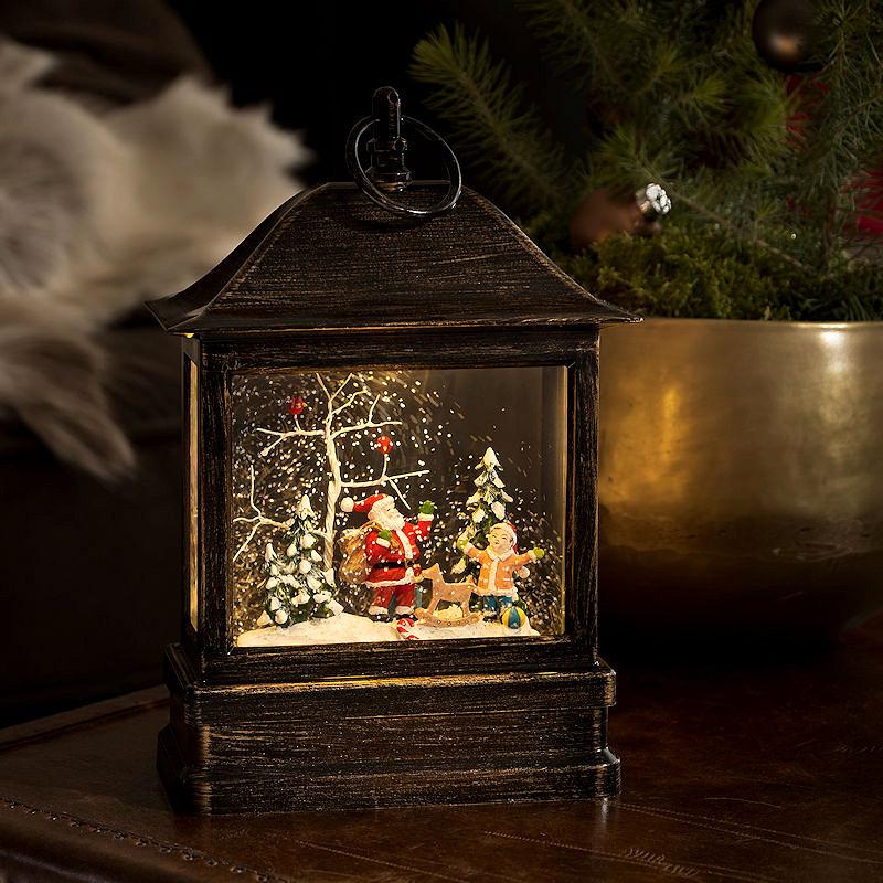 konstsmide led schneelaterne klein weihnachtsmann wassergef llt 1 warmwei e led. Black Bedroom Furniture Sets. Home Design Ideas