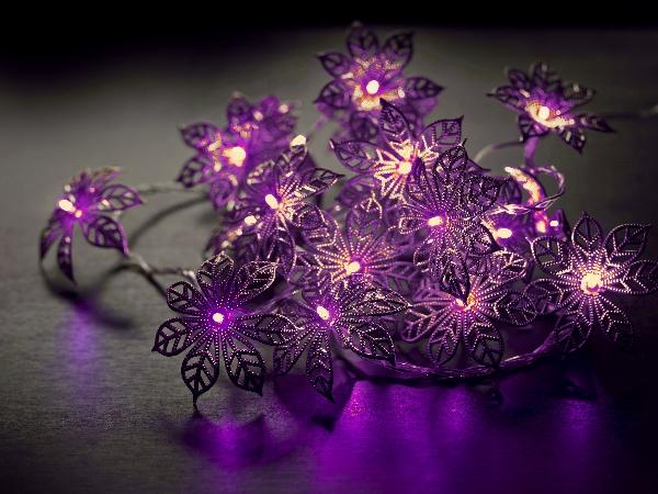 sirius led bl ten lichterkette babette purple 20 led bl ten warmwei. Black Bedroom Furniture Sets. Home Design Ideas
