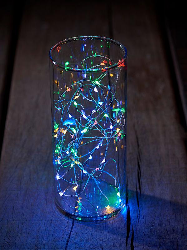 Weihnachtsbeleuchtung Tropfen.Sirius Tropfen Lichterkette Knirke Multi 40 Bunte Led Tropfen