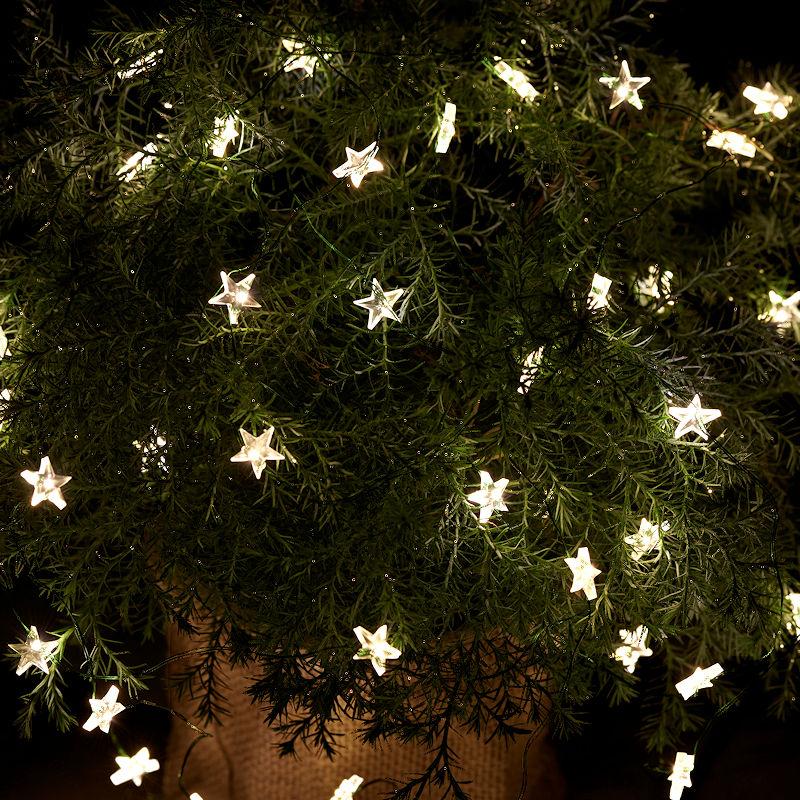 Ziemlich Lila Weihnachtsbeleuchtung Weißen Draht Ideen - Elektrische ...