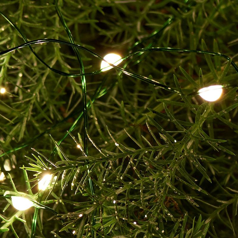 Tolle Weiße Weihnachtsbeleuchtung Grüner Draht Bilder - Elektrische ...