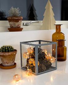 konstsmide led kugel lichterkette 10 kupferne led metallkugeln warmwei batteriebetrieben. Black Bedroom Furniture Sets. Home Design Ideas