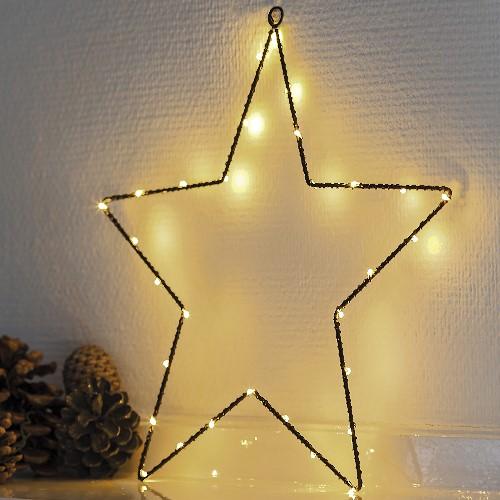 Weihnachtsbeleuchtung Mit Timer.Sirius Led Stern Liva Star Small Black 40 Warmweiße Led Tropfen