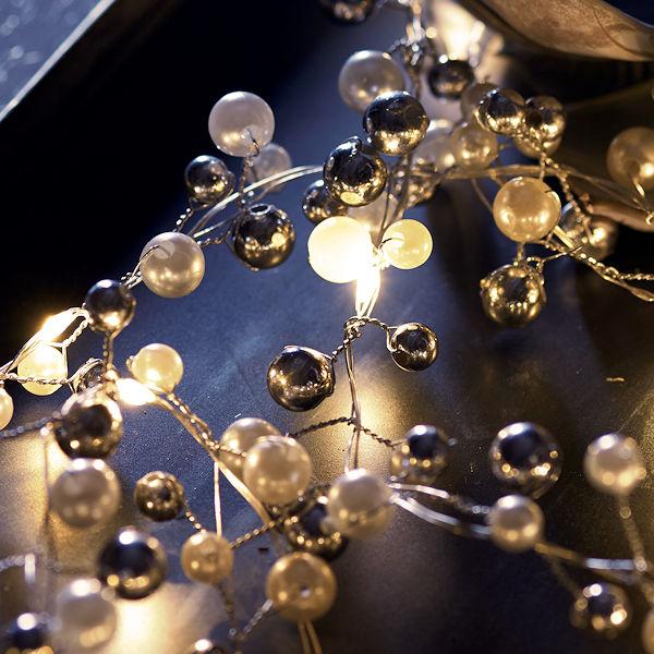 sirius led perlen lichterkette juliet 30 warmwei e led tropfen batteriebetrieb mit timer. Black Bedroom Furniture Sets. Home Design Ideas