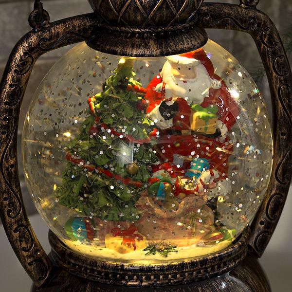 Konstsmide Weihnachtsbeleuchtung.Konstsmide Led Schnee Kugellaterne Weihnachtsmann Wassergefüllt 1