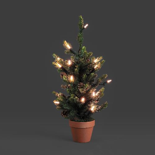 Konstsmide led weihnachtsbaum tanne 60 cm 20 warmweisse led - Weihnachtsbaum mini led ...