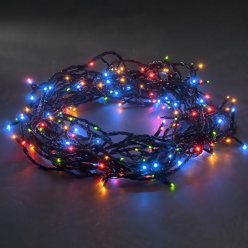 konstsmide micro led lichterkette 180 bunte led mit 8 blinkfunktionen. Black Bedroom Furniture Sets. Home Design Ideas