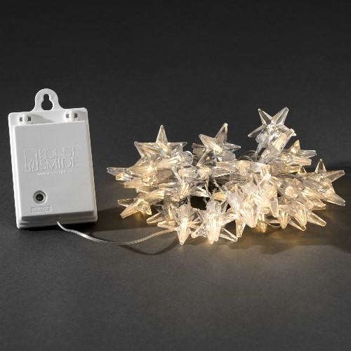 Sternen lichterkette 40 led sterne warmwei batteriebetrieb mit sensor und timer - Weihnachtsbeleuchtung mit batterie und timer ...
