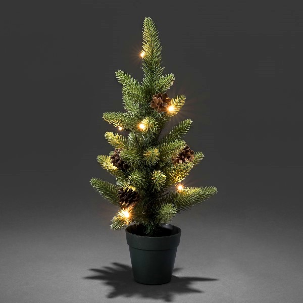 Mini Weihnachtsbaum Mit Batterie.Konstsmide Led Weihnachtsbaum Mit Topf 45 Cm 10 Warmweiße Led