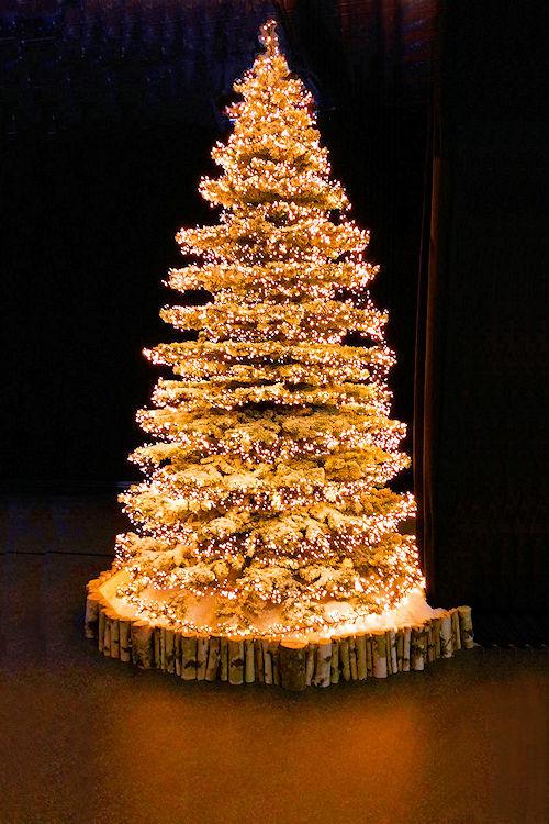Weihnachtsbaum lichterkette bernstein