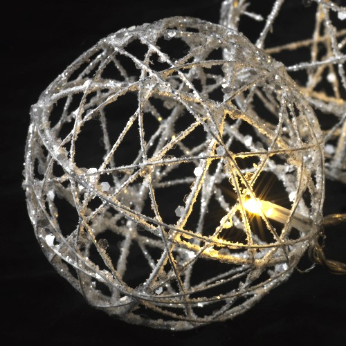 sirius led kugel lichterkette siv ball champagner 10 led kugeln warmwei. Black Bedroom Furniture Sets. Home Design Ideas