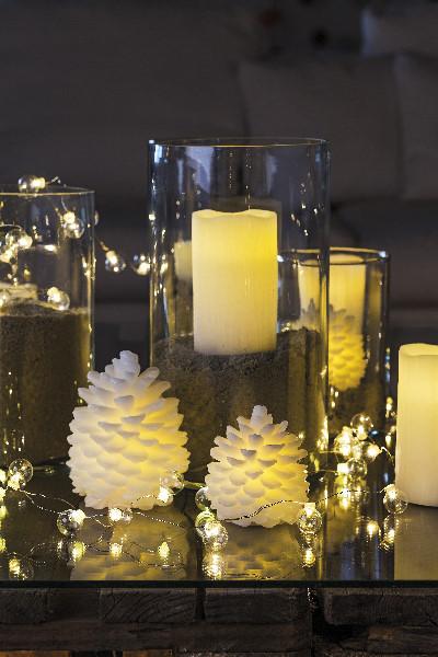 sirius echtwachskerze sara moving flame 20 cm cremewei. Black Bedroom Furniture Sets. Home Design Ideas