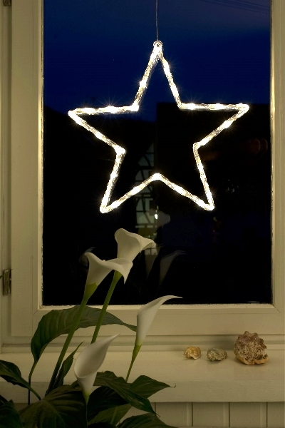 konstsmide led acryl motiv stern 24 led warmwei. Black Bedroom Furniture Sets. Home Design Ideas