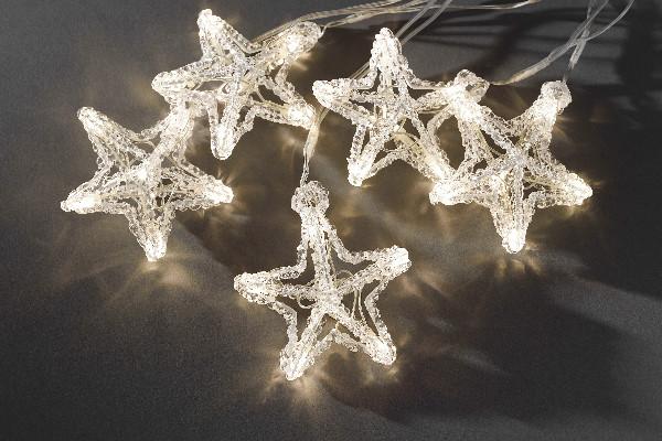 konstsmide led schneeflocken lichterkette 10 led sterne. Black Bedroom Furniture Sets. Home Design Ideas