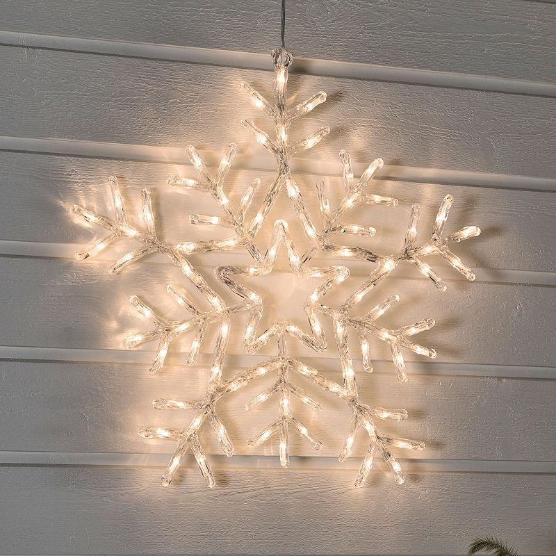 Konstsmide Weihnachtsbeleuchtung.Konstsmide Led Acryl Schneeflocke 58 Cm Led Warmweiß 8 Lichtfunktionen