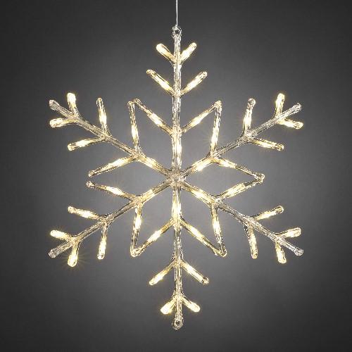 Konstsmide Weihnachtsbeleuchtung.Konstsmide Led Acryl Motiv Schneeflocke 60 Cm Led Warmweiß