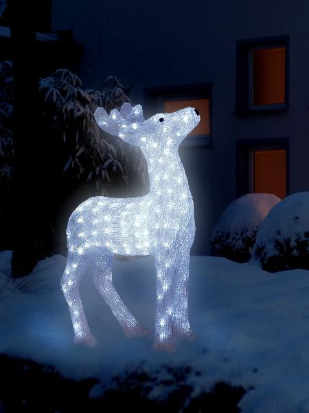 rentier beleuchtet acryl rentier beleuchtet 73 cm von dehner ansehen weihnachtsbeleuchtung. Black Bedroom Furniture Sets. Home Design Ideas