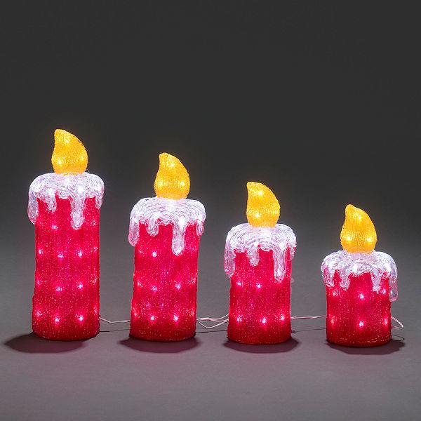 Konstsmide Weihnachtsbeleuchtung.Konstsmide 3d Led Acryl Motiv Adventskerzen 4er Set Weiße Led
