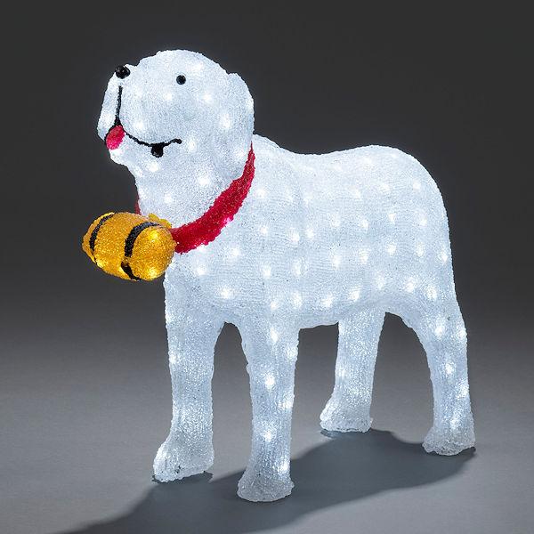 Konstsmide Weihnachtsbeleuchtung.Konstsmide 3d Led Acryl Lichtfigur Großer Bernhardiner Mit Fässchen