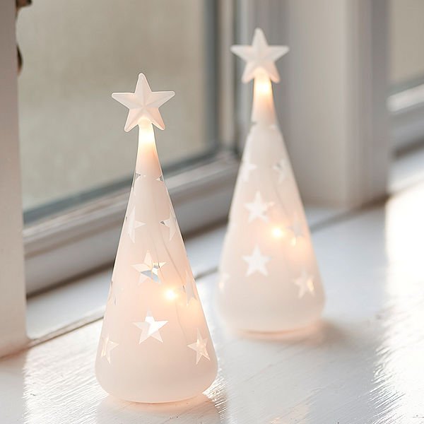 Mini Weihnachtsbaum Mit Batterie.Sirius Led Baum Vega Trees Mini 2er Set 10 Warmweiße Led Batteriebetrieb Mit Timer