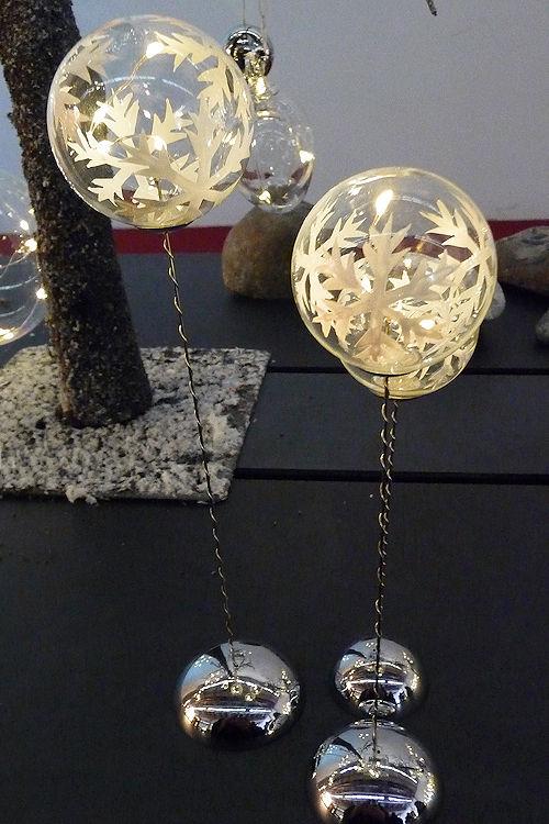 Sirius led weihnachtskugeln snowflake trio 3er set 9 warmwei e led batteriebetrieb timer stick - Weihnachtsbeleuchtung mit batterie und timer ...