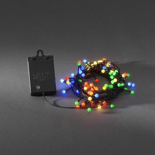 led lichterkette 40 globe led bunt batteriebetrieb mit sensor und timer. Black Bedroom Furniture Sets. Home Design Ideas