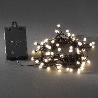 Led lichterkette 40 globe led warmwei batteriebetrieb mit sensor und timer - Weihnachtsbeleuchtung mit batterie und timer ...