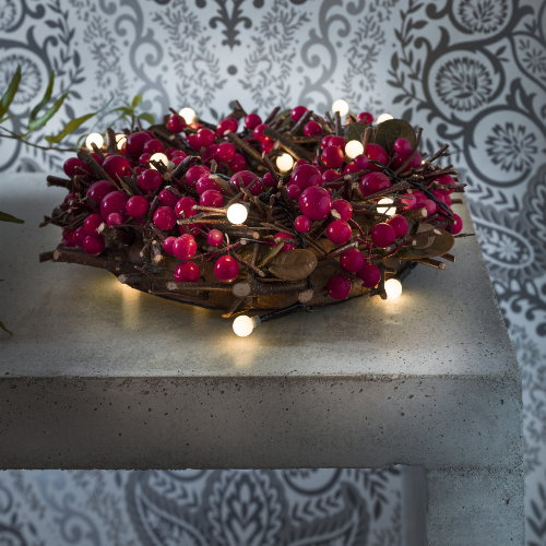 led lichterkette 20 globe led warmwei batteriebetrieb mit timerfunktion. Black Bedroom Furniture Sets. Home Design Ideas