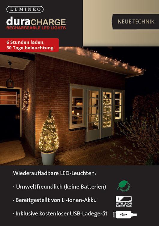 Lumineo led lichterkette duracharge twinklelight 400 led for Lichterkette ohne kabel