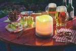 ESOTEC Solar-Kerze Candle Light, gelbes Flackerlicht