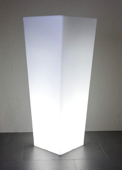 EPSTEIN-DESIGN Beleuchteter Pflanztopf Quadro 100 cm Höhe