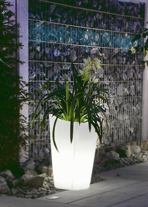 EPSTEIN-DESIGN Beleuchteter Pflanzkübel Tulpe 60 cm Höhe