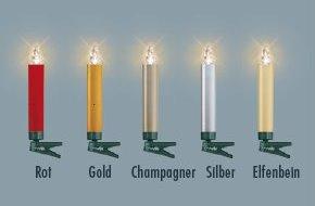 Lumix Weihnachtsbeleuchtung.Krinner Lumix Deluxe Kabellose Christbaumkerzen 10er Basis Set Gold