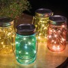 LUMINEO Solargläser Colourful Echtglas, 4er-Set bunt, 10 LED warmweiß