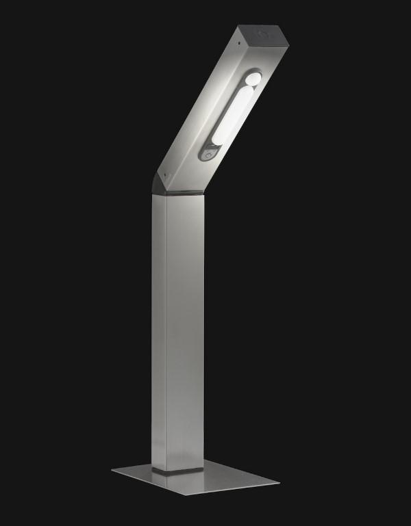 solar led sockelleuchte reader park 4 smd led warmwei 50 cm bewegungsmelder. Black Bedroom Furniture Sets. Home Design Ideas