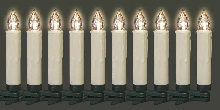 Kabellose Weihnachtsbeleuchtung Innen.Fhs Kabellose Led Christbaumkerzen Für Außen Und Innen 10er Basis Set