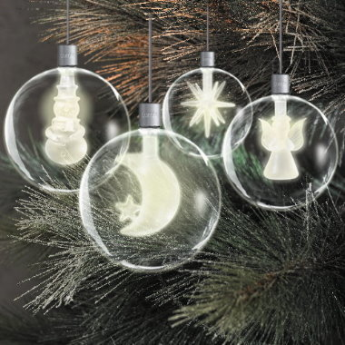 krinner lumix light balls kabellose christbaumkugeln 4er set. Black Bedroom Furniture Sets. Home Design Ideas