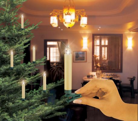 Krinner lumix classic kabellose christbaumkerzen 10er - Lumix classic ...
