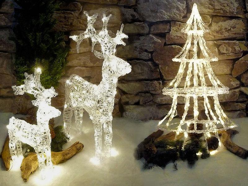 Tannenbaum Acryl.Lumineo Led Acryl Motiv Tannenbaum Warmweiße Led