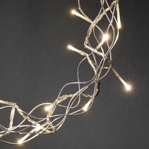 Konstsmide weihnachts fensterdekoration metall kranz silber 30 warmwei e led - Weihnachts fensterdeko led ...