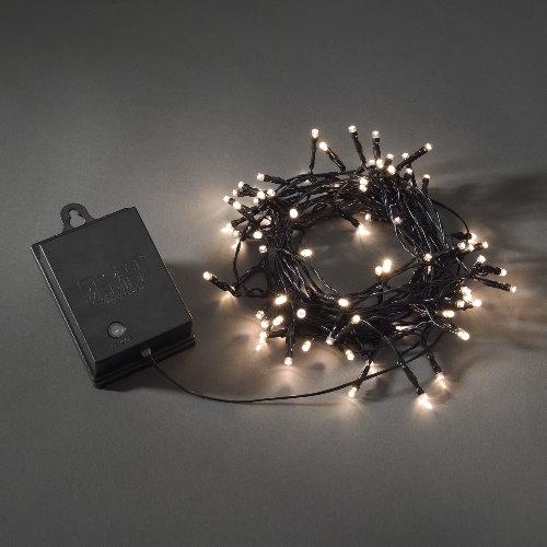konstsmide led lichterkette 80 led warmwei batteriebetrieb mit sensor und timer. Black Bedroom Furniture Sets. Home Design Ideas