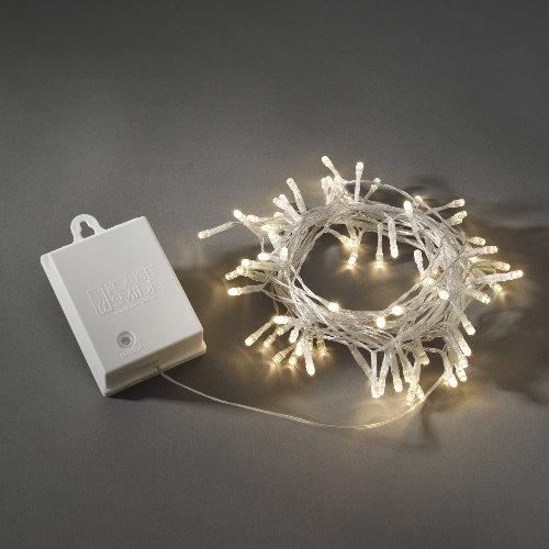 Konstsmide led lichterkette 80 led warmwei batteriebetrieb mit sensor und timer - Weihnachtsbeleuchtung mit batterie und timer ...