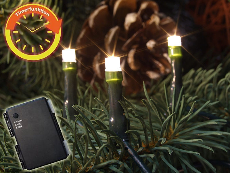 fhs led batterie lichterkette 120 warmwei e led batteriebetrieb mit timer. Black Bedroom Furniture Sets. Home Design Ideas
