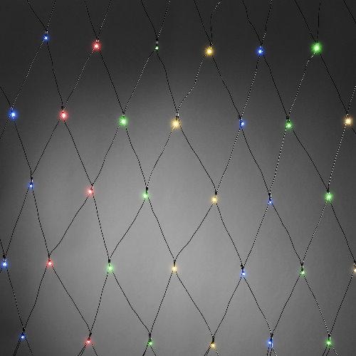 Konstsmide led lichternetz batteriebetrieb mit timer und sensor 80 bunte led - Weihnachtsbeleuchtung mit batterie und timer ...