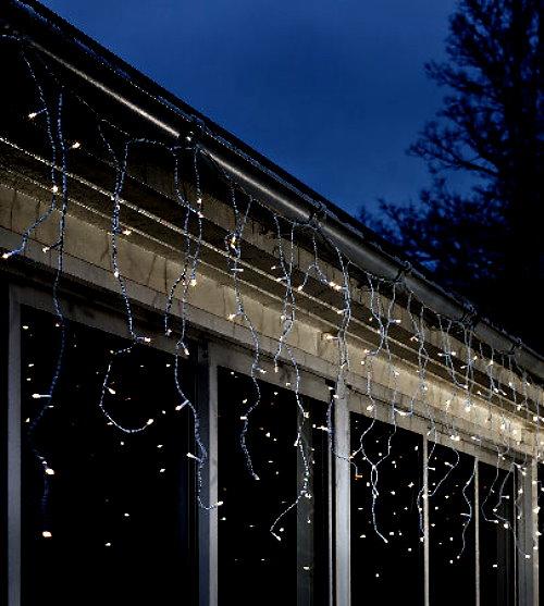 Led lichtervorhang eisregen 80 led warmwei batteriebetrieb mit sensor und timer - Weihnachtsbeleuchtung mit batterie und timer ...