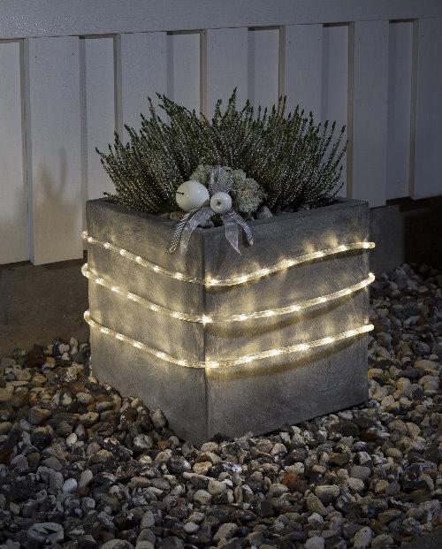 Konstsmide led lichtschlauch 6 meter warmwei batteriebetrieb mit sensor und timer - Weihnachtsbeleuchtung mit batterie und timer ...