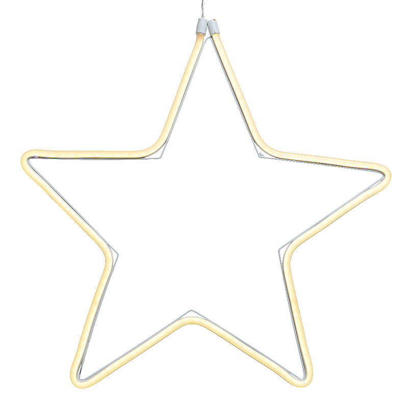 lumineo led neonflex stern weihnachtsstern 55 cm 192 led warmwei. Black Bedroom Furniture Sets. Home Design Ideas
