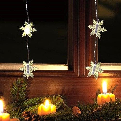 fhs led schneeflocken vorhang 40 warmwei e led. Black Bedroom Furniture Sets. Home Design Ideas