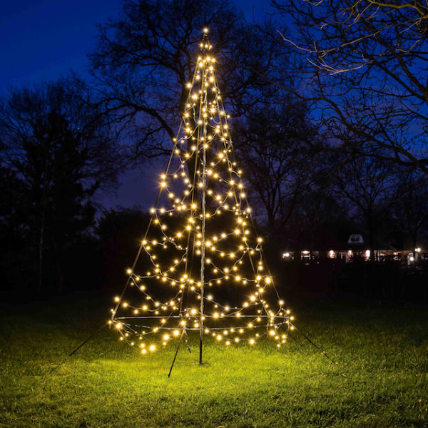Led tannenbaum 300 cm 360 warmwei e led mit flash effekt - Fairybell led weihnachtsbaum ...